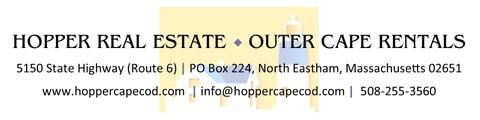 Hopper Real Estate ~ Outer Cape Rentals Banner